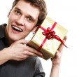 Man got golden gift box — Stock Photo #57956791
