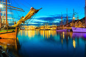 Sailing ships in harbor during the tall ships races — Stock Photo