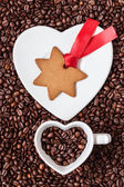 Star shaped christmas cookie — Stock Photo