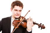 Violinist playing violin. — Stock Photo