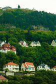 Houses on hills — Stock Photo