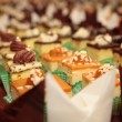Varieties of cakes desserts catering sweets — Stock Photo #59918999