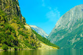 Mountains and fjord — Stock Photo
