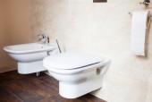 Bidet and toilet — Stock Photo