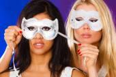 Women with carnival masks — Stock Photo