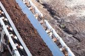 Belt conveyor in mine — Stock Photo