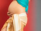 Karın hamile kadın — Stok fotoğraf