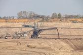 Excavator in coal mine — Stockfoto