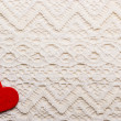 Red heart  on lace — Stock Photo #63247259