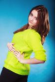 Teen girl posing in studio — Stock Photo