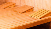 Interior of a finnish sauna — Stock Photo