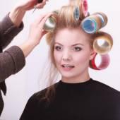 Girl in hairdressing salon — Stock Photo