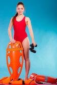 Lifeguard on duty — Stock Photo