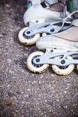 Roller skates on asphalt. — Stock Photo
