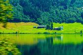 Norwegian house hytte — Foto Stock