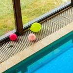Swimming pool at hotel close up — Stock Photo #65736961