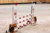 Obstacle for horse jumping — Stock Photo