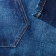 Closeup detail of blue denim pocket — Stock Photo #66912733