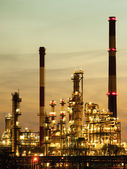 View of the refinery petrochemical plant in Gdansk, Poland — Stock Photo