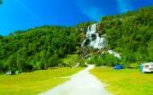 Tvindefossen waterfall near Voss — Stock Photo