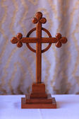 Old cross in church — Stock Photo