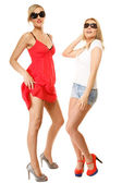 Women in summer clothes posing — Stock Photo