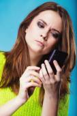Teenage girl texting — Stock Photo