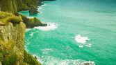 Irish landscape. Coastline atlantic ocean coast scenery. — Stock Photo
