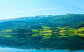 Tourism and travel. Landscape and fjord in Norway. — Stock Photo