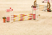 Equitation. Obstacle for jumping horses. — Stock Photo