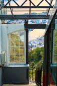 Funicular Railway in Bergen, Norway, climbing Mount Floyen. — Stock Photo