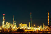 Night view of the petrochemical plant — Stock Photo