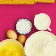 Preparation for baking, bake ingredients. — Stock Photo #73328341