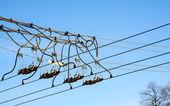 Interruptor de alambre Trolley línea aérea — Foto de Stock