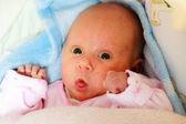 Baby girl lying — Stock Photo