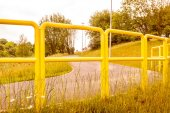 Road fence barrier. — Stock Photo