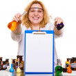 Chemist holding  test flasks — Foto de Stock   #76942181
