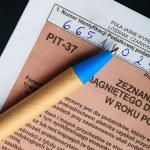 Polish individual tax form — Stock Photo #78014772