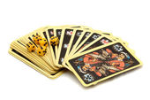 Playing cards - isolated on white background — Stok fotoğraf