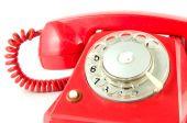 Rote Vintage Telefon — Stockfoto