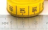 Metal centimeters ruler isolated on white — Stock Photo