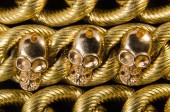 Golden Maya Schädel — Stockfoto