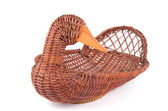 Wicker basket on isolated background — Stock Photo