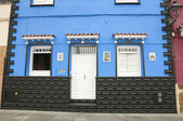 Blue colored house  — Stock Photo