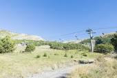 Ski lifts in the ski resort — Stock Photo