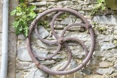 Antique iron wheel  — Stock fotografie