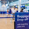 Blue Airport Baggage Claim Sign — Stock Photo #52550215