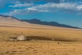 Yurt at the silk road — Stock Photo
