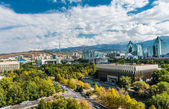 Panoramic view of Almaty city — Stock Photo