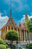Wat Phra Kaeo, Temple Bangkok, Asia Thailand — Stock Photo
